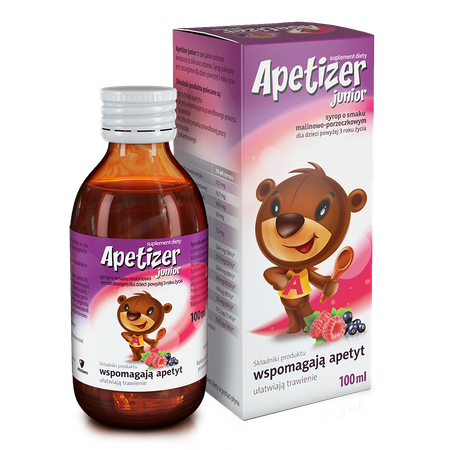 Apetizer Junior, raspberry and currant flavour apetizerjunior malinowoporzeczkowy