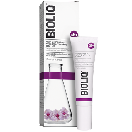 Bioliq 45+ firming and smoothing eye and mouth cream Bioliq 45+ Krem ujędrniająco- wygładzający do skóry oczu i ust