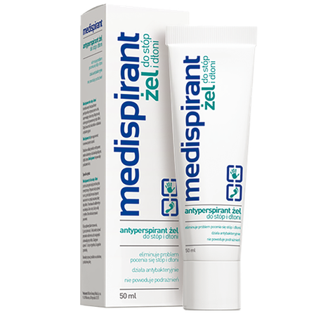 Medispirant hands and feet gel Medispirant antyperspirant żel do stóp i dłoni